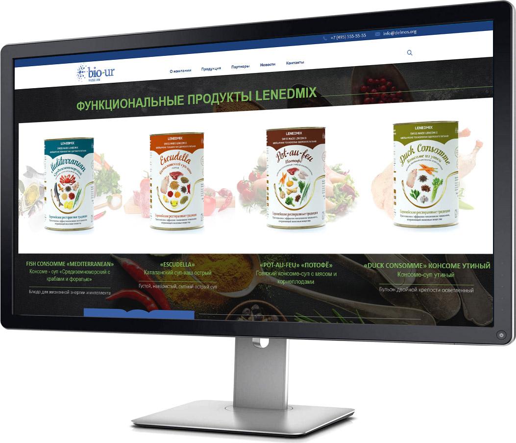 создание продуктового сайта